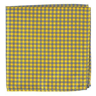 Commix Checks Yellow Pocket Square