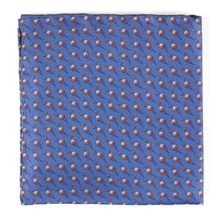 Flamingo Cast Periwinkle Pocket Square