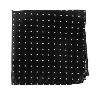 Hot Dots Black Pocket Square