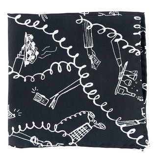Fully Committed Black Pocket Square