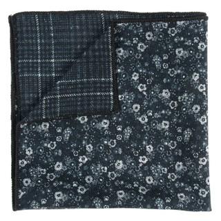 Floral Degree Black Pocket Square