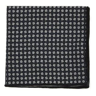 Pinwheel Print Black Pocket Square