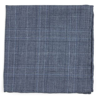 Cast Plaid Grey Pocket Square