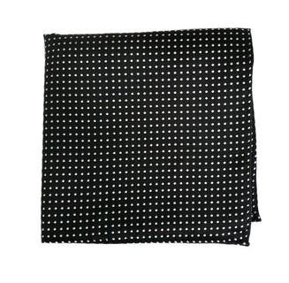 Pindot Black Pocket Square