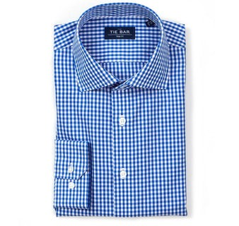 Gingham Classic Blue Non-Iron Dress Shirt