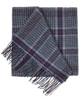 Lincoln Square Plaid Burgundy Scarf