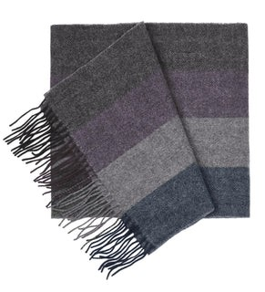 North Center Stripes Plum Scarf