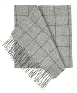West Town Pane Light Grey Scarf