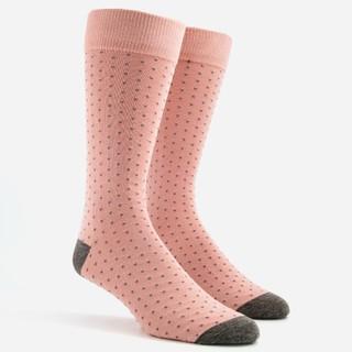 Mumu Weddings - Seaside Dot Dusty Blush Dress Socks