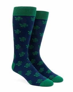 Sea Turtles Navy Dress Socks