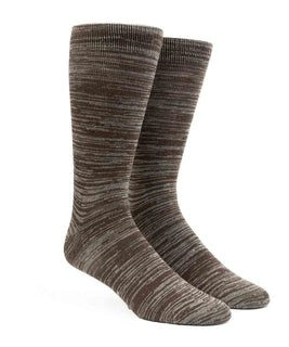 Marled Brown Dress Socks