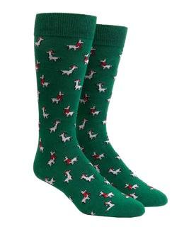 Fa-La Llama Hunter Green Dress Socks