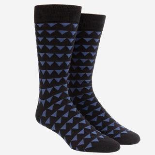 Triangle Geo Black Dress Socks