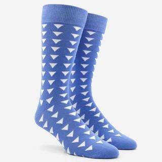 Triangle Geo Cornflower Dress Socks