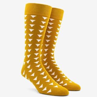 Triangle Geo Mustard Socks