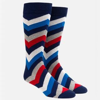 Chevron Grey Dress Socks