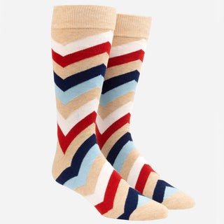 Chevron Oat Dress Socks