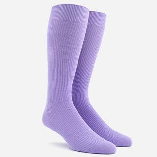 Ribbed Lavender Dress Socks