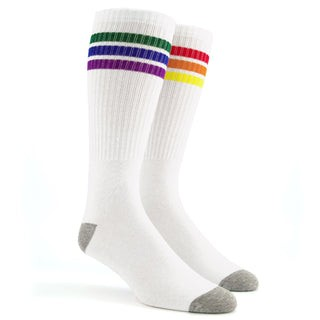 The Queer White Crew Socks