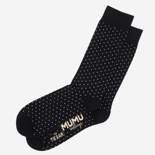 Mumu Weddings - Seaside Dot Black Socks