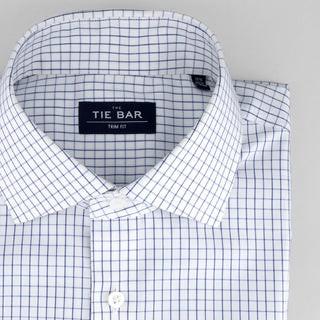 Classic Check Blue Non-Iron Dress Shirt