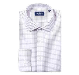 Classic Check Burgundy Non-Iron Dress Shirt