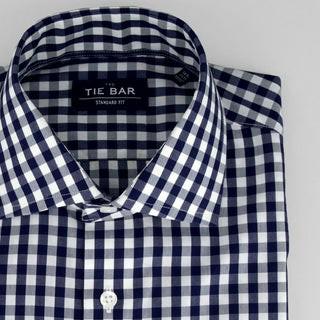 Classic Gingham Navy Non-Iron Dress Shirt