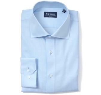 Herringbone Light Blue Non-Iron Dress Shirt
