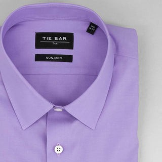 Pinpoint Solid Lavender Non-Iron Dress Shirt
