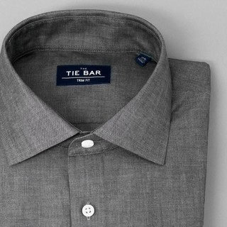 Polished Chambray Grey Dress Shirt