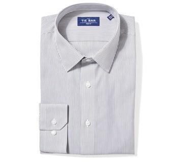 Vertical Stripe Olive Green Non-Iron Dress Shirt