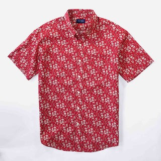 Liberty Capel Floral Red Short Sleeve Shirt