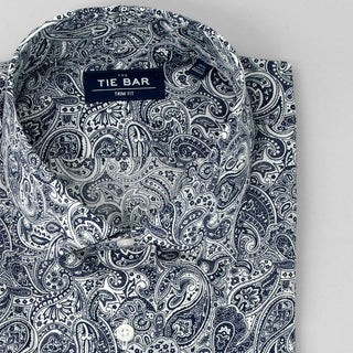Paisley Navy Dress Shirt