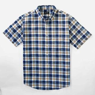 Classic Madras Navy Short Sleeve Shirt