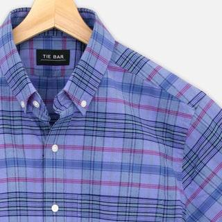 Inky Madras Blue Casual Shirt