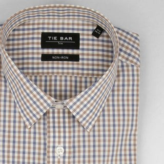 Modern Tattersall Blue Non-Iron Dress Shirt