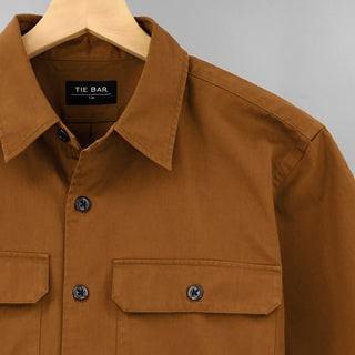 Utility Shirt Tobacco Brown Casual Shirt