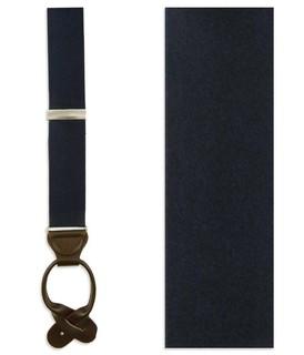 Solid Satin Midnight Navy Suspender