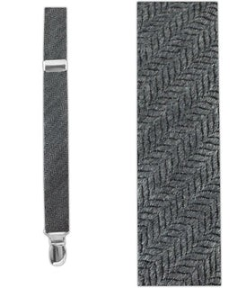 Wavebone Wool Grey Suspender