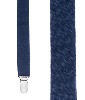 Astute Solid Navy Suspender