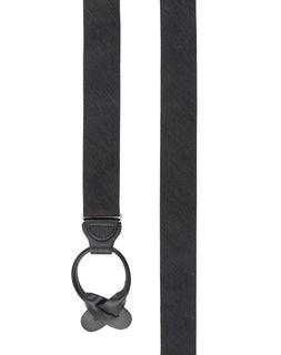 Festival Textured Solid Black Suspender