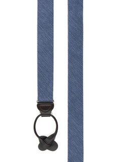 Festival Textured Solid Slate Blue Suspender