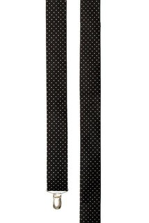 Mini Dots Black Suspender