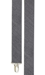 Wool Suiting Herringbone Grey Suspender