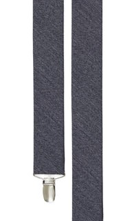 Wool Suiting Solid Grey Suspender