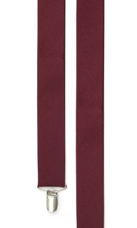 Grosgrain Solid Burgundy Suspender