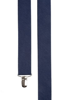 Linen Row Navy Suspender