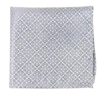 Opulent Silver Pocket Square