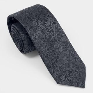 Ceremony Paisley Charcoal Tie