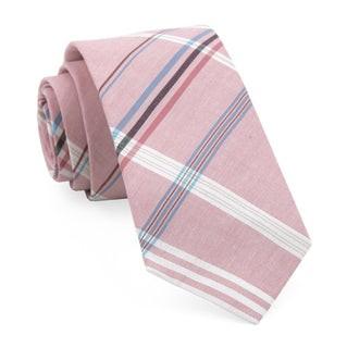 Dawson Plaid Washed Red Tie